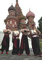 шоу группы ТАНГУН на Васильевском спуске